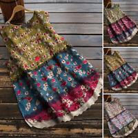 Women Summer Sleeveless Floral Vest Shirt Tank Top CaPrinted Blouse Plus Size