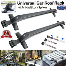 Roof Rack Cross Bar Baggage Carrier w-/ Anti-theft Lock System fit Universal Car