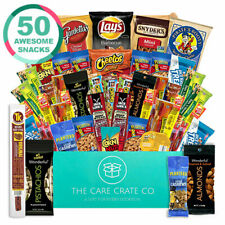The Care Crate Man Box Ultimate Men's Snack Box Care Package 50 piece Snack Box