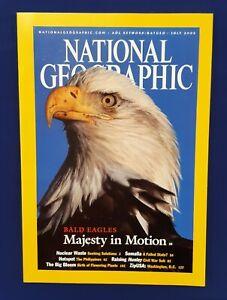National Geographic Magazine-July 2002-Bald Eagles Majesty In Motion-Somalia