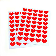 80 Red Heart Stickers 16mm Valentine Wedding Mothers Card Scrapbook Diary etc