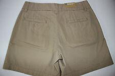 NWT MERONA Size 4 Women's Flat Front Khaki FIT 1 Chino Shorts