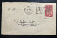 1939 Royal Train Canada King George VI Royal Visit First Day Cover To RCAF Trent