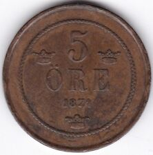 More details for 1874 sweden 5 ore | pennies2pounds