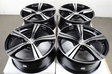 "18"" Wheels Mustang Honda Civic Accord Rav-4 Camry Cr-V Fusion Black Rims 5x114.3"