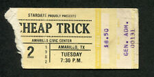 1982 Cheap Trick Concert Ticket Stub Amarillo Texas One on One I Want You