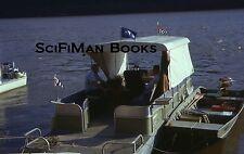 35mm Vintage Slide Fishing Boat Rowboat Oars Johnson Outboard Motor Men 1975!!!