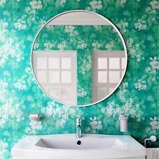 Vasari Round White Framed Bathroom Mirror 600 x 600mm