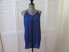 Cha Cha Vente top,Women,L,NEW, Royal Blue,black trim,sleeveless,strap polyester