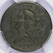 1793 Flowing Hair Liberty cap half Cent H1c 1/2c PCGS Genuine F Really nice look