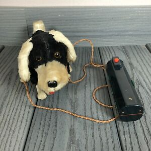 Vintage 1960s Japan Battery Operated Walking Poodle Dog Toy w Remote not Workin