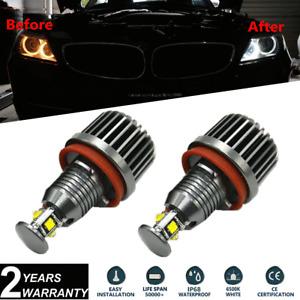 2x 40W CREE H8 LED Angel Eyes Halo Ring Light Bulbs White For BMW E92 E93 E70 X5