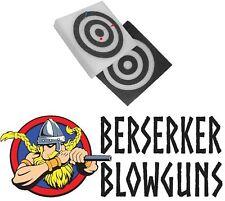 "12"" X 2"" Square Self Healing Foam Blowgun Dart BLK/WH Target by Berserker Blowgu"