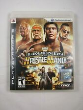 WWE LEGENDS OF WRESTLEMANIA Sony PlayStation 3 COMPLETE WWF Wrestling PS3