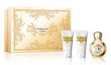 Set Regalo Donna Versace Eros Profumo Edp 50ml + Crema Corpo + Gel Bagno Doccia