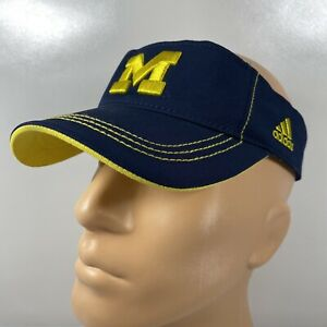 Adidas University Of Michigan Wolverines Embroidered Unisex Adjustable Visor