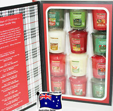 YANKEE CANDLE 12 DAYS OF CHRISTMAS GIFT COLLECTORS BOOK 12 VOTIVES KEEPSAKE