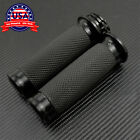 1? Black Handle Bar Hand grips Fit For Harley Touring Sportster XL883 XL1200