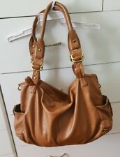 JIGSAW Large Soft Leather Hobo Shoulder bag Tan Brown Handbag B27