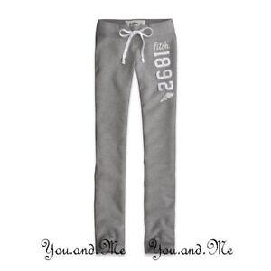 NEW ABERCROMBIE & FITCH KIDS PANTS * A&F Girls Skinny Fit Sweatpants * Grey * S