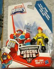 Playskool Transformers Rescue Bots Heatwave the Fire-Bot & Kade Burns New!