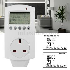 LCD Electric Digital Plug In Thermostat Temperature Controller Greenhouse Heater