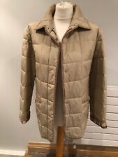 Authentic Classic Burberry Quilted Beige Ladies Jacket Size L