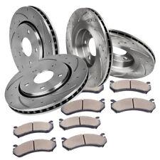 Front and Rear Brake Disc Rotors Ceramic Pads for 2002 2003 2004 HONDA CRV EX LX