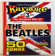 Karaoke Chartbuster CD+G Lot 5132 The Greatest Hits Of The Beatles 3 Disc box!!