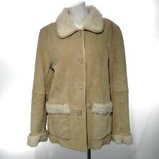 PACIFIC TRAIL OUTDOOR WEAR Women's Beige Faux Fur Lined Tan Leather Jacket, Med
