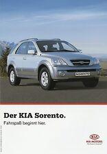 Kia Sorento Prospekt 7/05 2005 Autoprospekt Broschüre brochure brosjyre Katalog