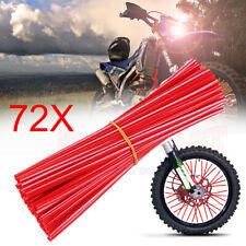 72Pcs Universal Wheel Spoke Wrap Skin Coat Trim Cover Pipe For Honda Suzuki Bike