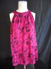 Apt9 Halter w/ 2 Button closure on neck, Pink & Purple Print With Sequins Size L