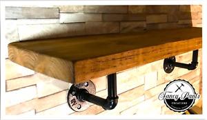 Reclaimed Scaffolding Shelf - INCLUDES - Industrial Steel Pipe Shelf Brackets