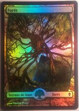 Forêt Full Art Zendikar VF PREMIUM / FOIL French Textless Forest - Magic mtg 249