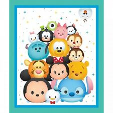 100% Cotton Patchwork Fabric Springs Creative Disney Tsum Tsum Panel Stack
