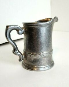 """Vintage THE WILTON COMPANY® RWP Small Pewter Creamer Pitcher - 4"""""""