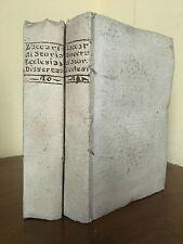 Zaccaria. Raccolta di dissertazioni di storia ecclesiastica. Tomo XX-XXI - 1796