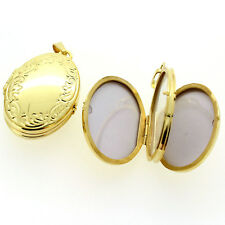 4 Fotos Bilder Foto Medaillon Amulett Anhänger oval Kette Echt Silber 925 Verg