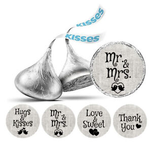 Darling Souvenir Wedding  Stickers Hershey's Kisses Candy Party Favor-DS-KS135