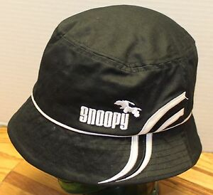 YOUTH BLACK & WHITE SNOOPY BUCKET HAT IN VERY GOOD CONDITION PEANUTS CHARLIE