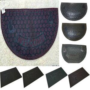 Modern Heavy Duty Non-Slip Rubber Door Mat Welcome Mat Outdoor Front Doormat