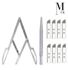 Stainless Steel MICROBLADING Kit - Calipers Aluminium Pen Microblades 12CF
