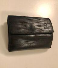 Original Louis Vuitton schwarz kleines Portemonnaie Geldbörse Schmuckbörse