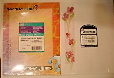 """2-Letterhead Paper-Great Papers! 8.5"""" x 11"""" WWJD-50 Ct.-Blossoms-25 ct"""