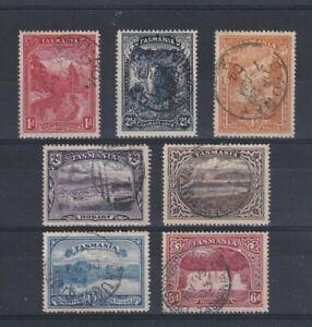 TASMANIA 1899 - 1900 Part Set Perf 14 SG 230/236 USED