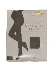 Maternity Tights. Black .Opaque. Footed. Size L/XL