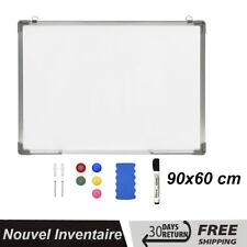 Vidaxl Tableau Blanc Magnétique Effaçable À sec 90x60 cm Acier Ecriture bureau