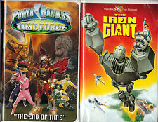 Power Rangers Time Force: The End of Time (VHS, 2002) & The Iron Giant (VHS)