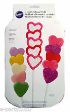 WILTON STACKED HEARTS CAVITY SILICONE MOLD ~ Baking Birthday Party Supplies